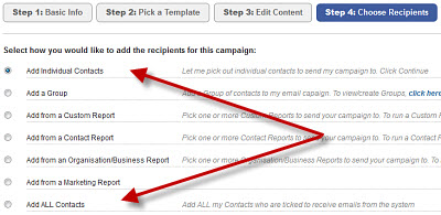 Manage & target bulk email lists with InTouch crm solution