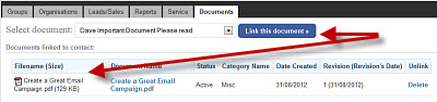 Quickly link document to your contact database