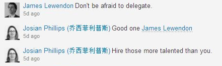 Don't be afraid to delegate