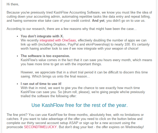 Kashflow re engagement email 1