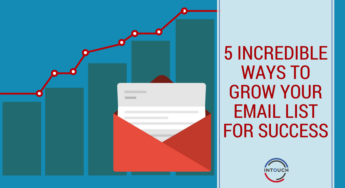 5 Incredible Ways to Grow Your Email List For Success