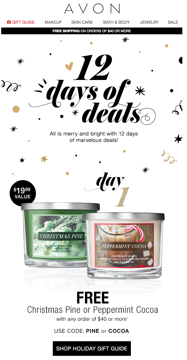 marketing automation campaigns_ christmas campaign_Avon